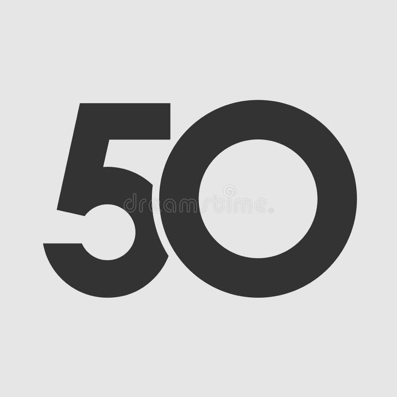 Jahrestag 50 einfach vektor abbildung