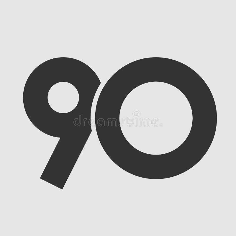 Jahrestag 90 einfach lizenzfreie abbildung