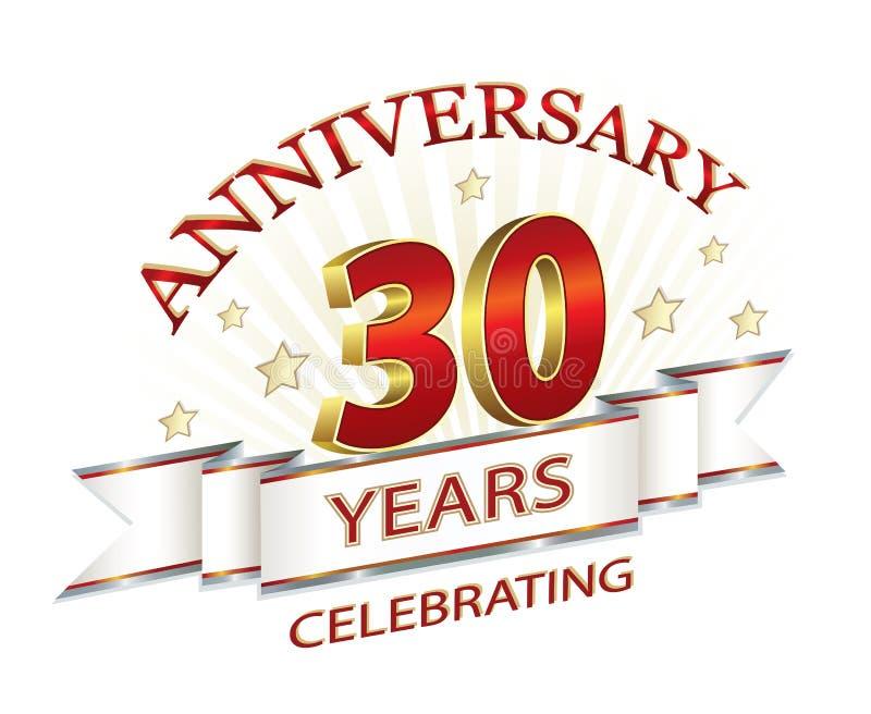Jahrestag 30 Jahre lizenzfreie abbildung
