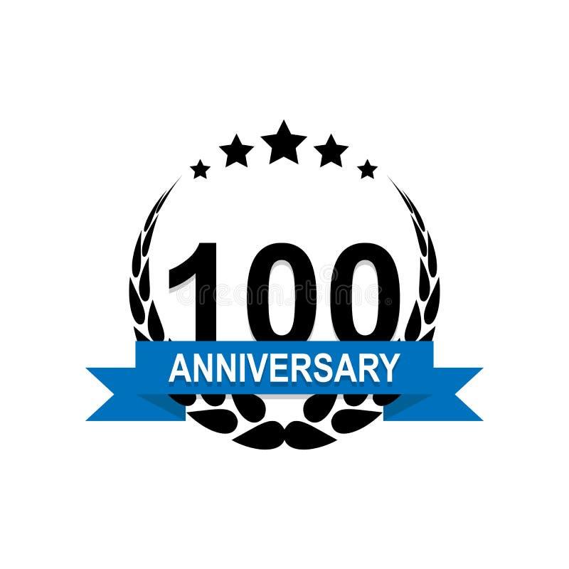 Jahrestag, 100 Jahre mehrfarbige Ikone Kann für Netz, Logo, mobiler App, UI, UX verwendet werden lizenzfreie abbildung
