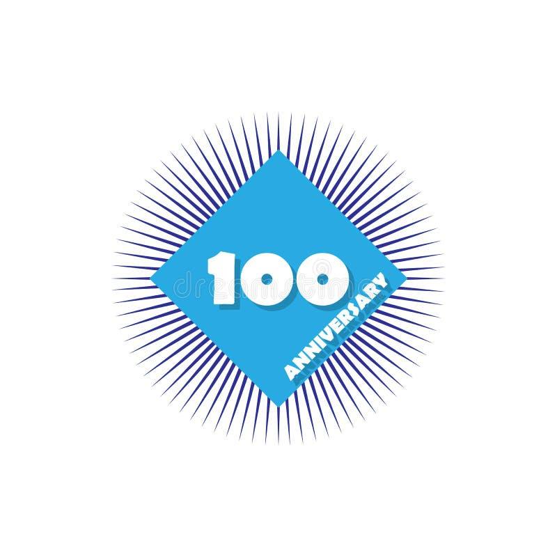 Jahrestag, 100 Jahre mehrfarbige Ikone Kann für Netz, Logo, mobiler App, UI, UX verwendet werden stock abbildung