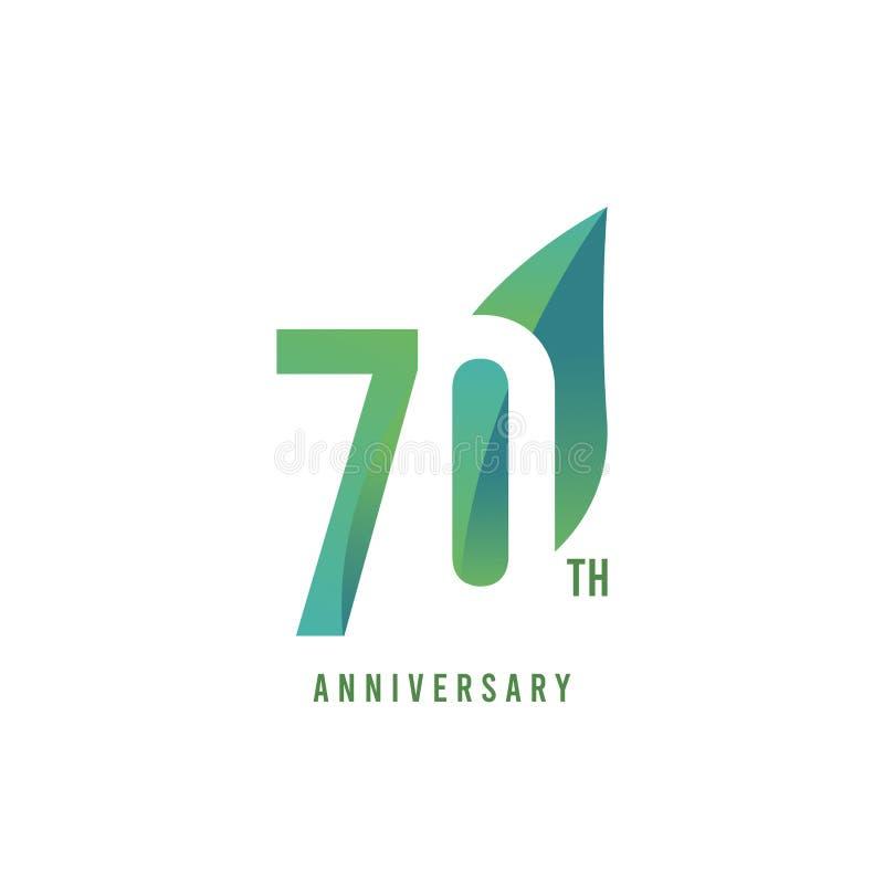 70. Jahrestag Logo Vector Template Design Illustration lizenzfreie abbildung