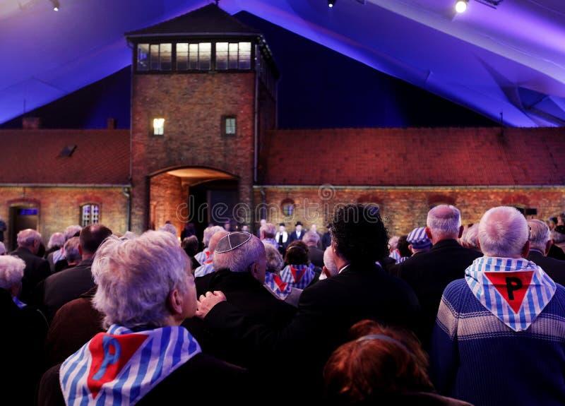 70. Jahrestag von Auschwitz-Befreiung stockfotos