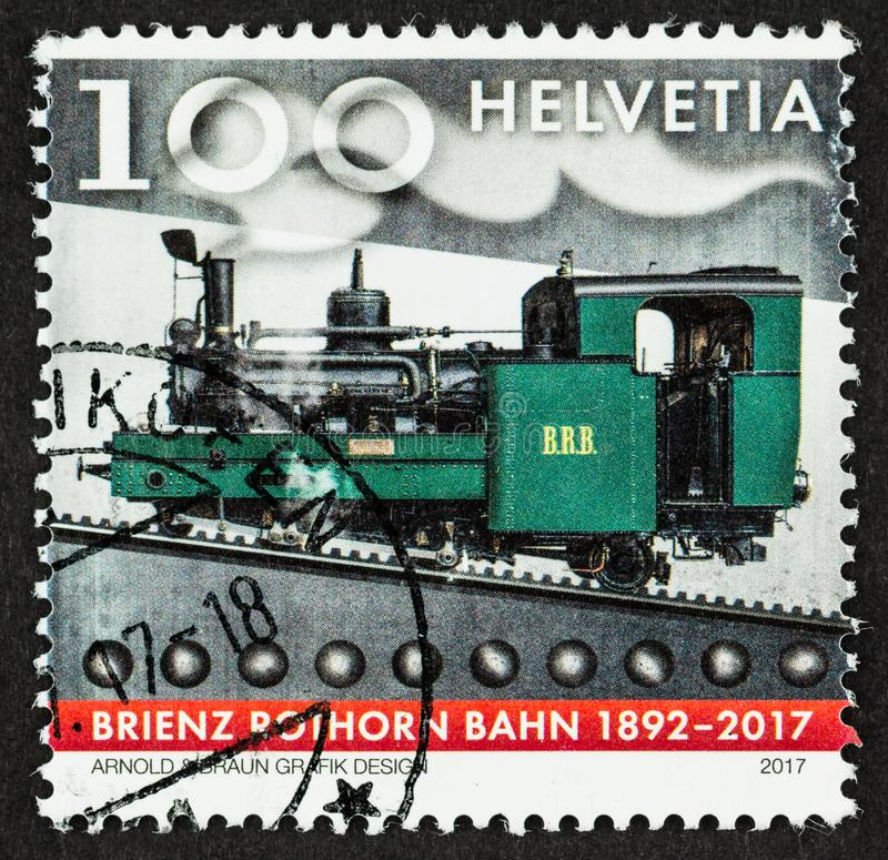 Jahrestags-Bahnbriefmarke 2017 stockfotografie