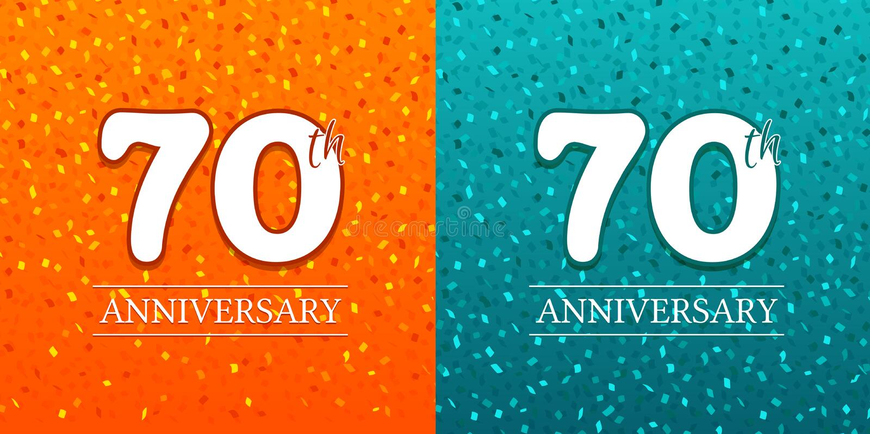 70. Jahrestags-Hintergrund - 70 Jahre Feier Vektor des Geburtstags-Eps10 stock abbildung