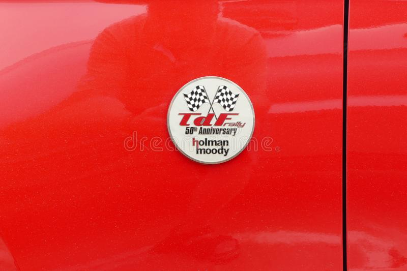 Jahrestagsausweis Sammlung 50. Ford Mustangs TdF, Lima lizenzfreies stockfoto