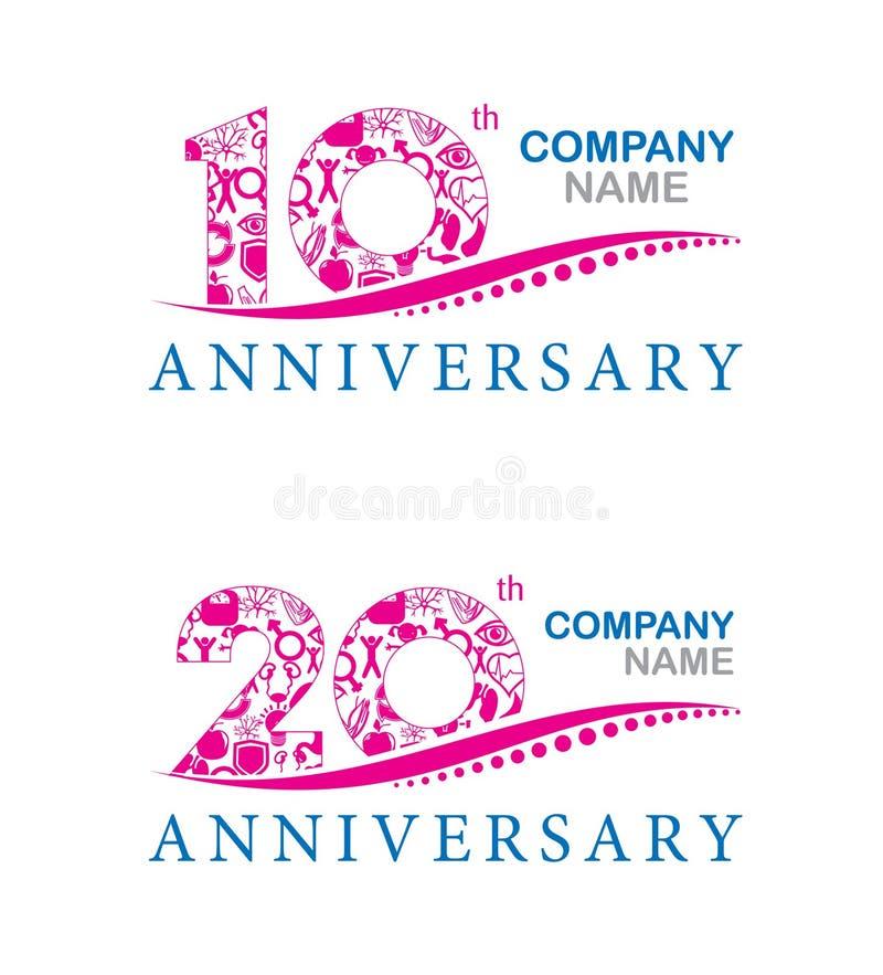 10. Jahrestagsdesign lizenzfreie abbildung