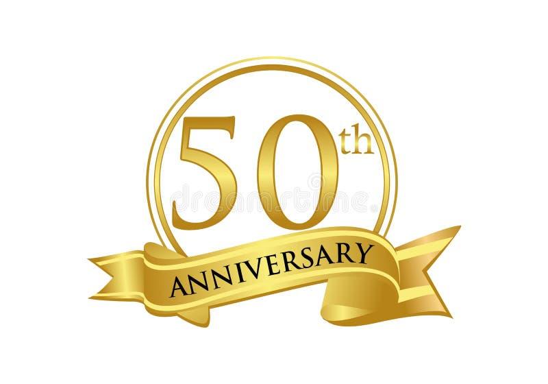 50. Jahrestagsfeier-Logovektor lizenzfreie abbildung
