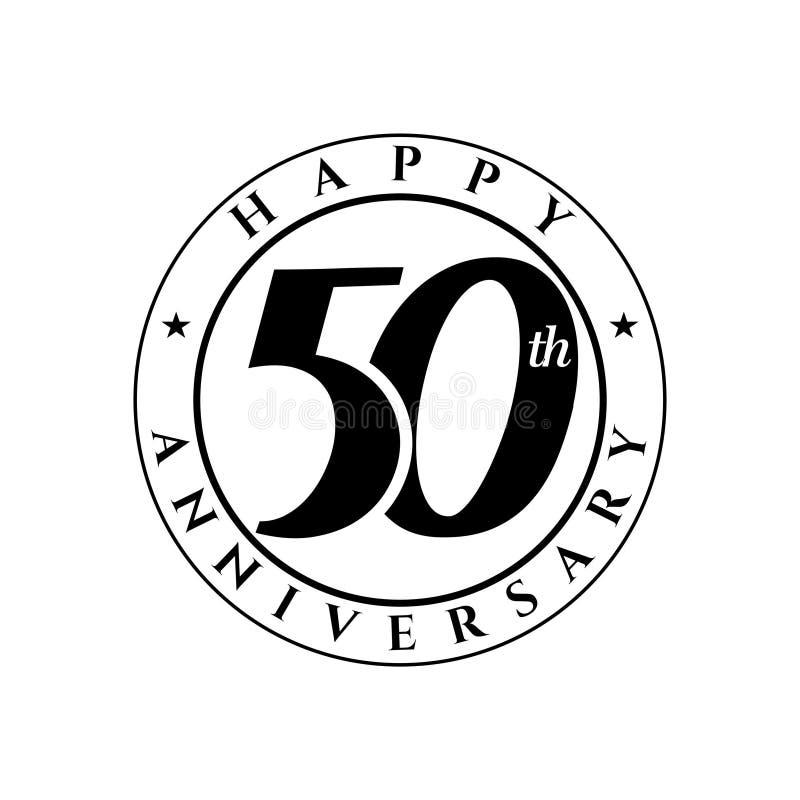 50. Jahrestagslogo vektor abbildung
