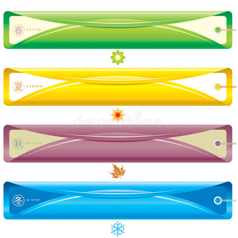 Jahreszeit-Fahne stock abbildung
