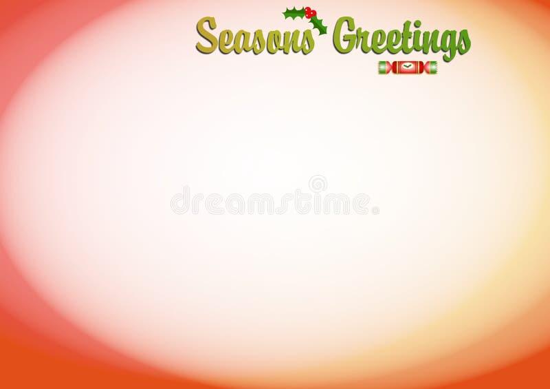 Jahreszeit-Gruß-Hintergrund vektor abbildung