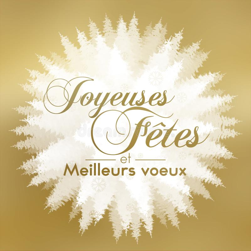 Jahreszeitgrüße auf französisch lizenzfreie abbildung