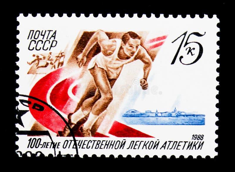Jahrhundert der russischen Leichtathletik, circa 1988 lizenzfreie stockfotografie