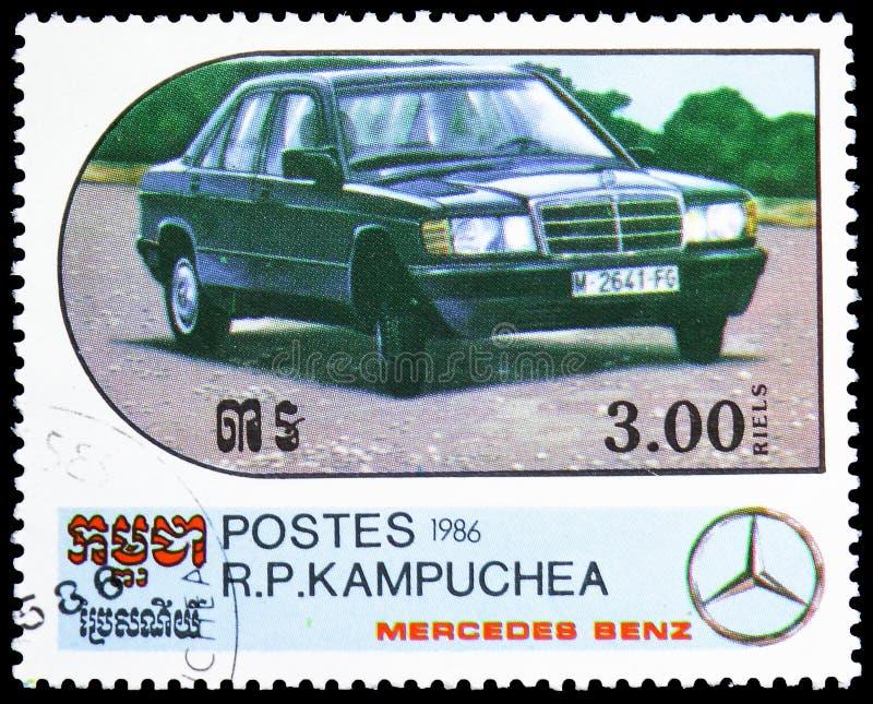 190 - 1985, Jahrhundert des Bewegungsmotor- Mercedes Benz Models-serie, circa 1986 stockfoto