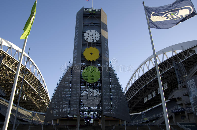 Jahrhundert-Kettfeld Seahawks-Stadion lizenzfreies stockfoto