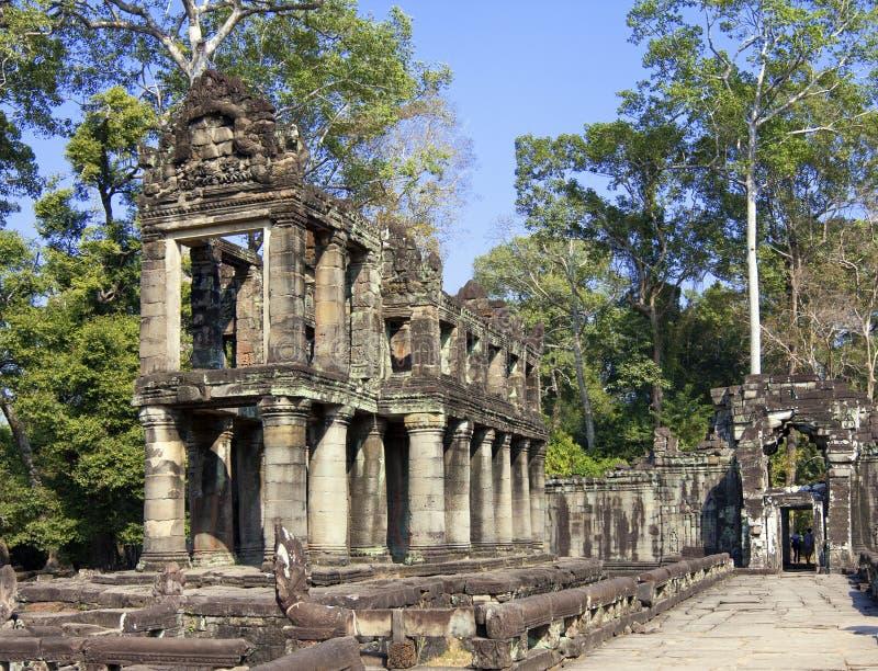 12. Jahrhundert Preah Khan Temple in Angkor Wat, Siem Reap, Kambodscha stockfotos