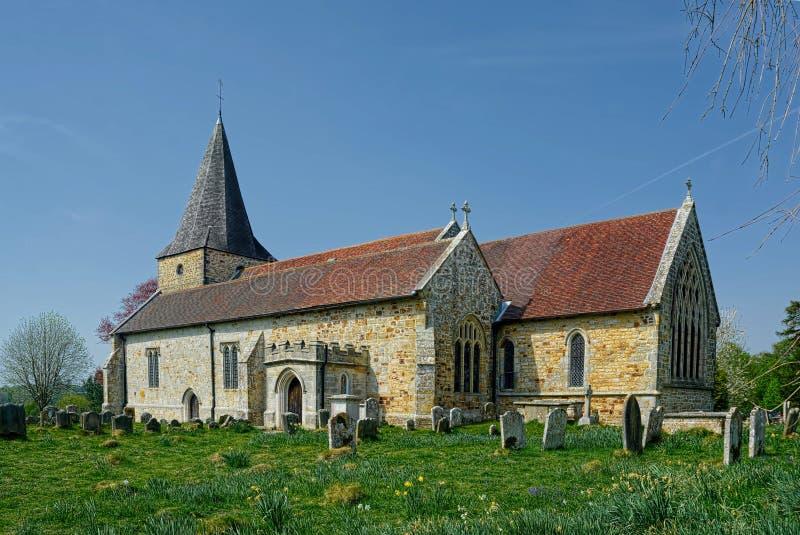 13. Jahrhundert, St Margaret die Königin-Kirche Buxted sussex lizenzfreie stockfotos