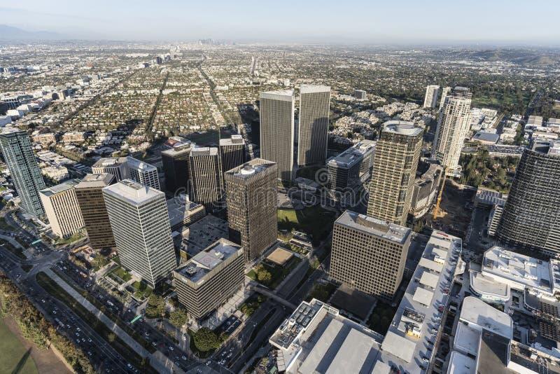 Jahrhundert-Stadt-Skyline-Los Angeles-Antenne lizenzfreie stockfotografie