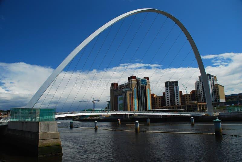 Jahrtausend-Brücke. Newcastle nach Tyne, Großbritannien stockfoto