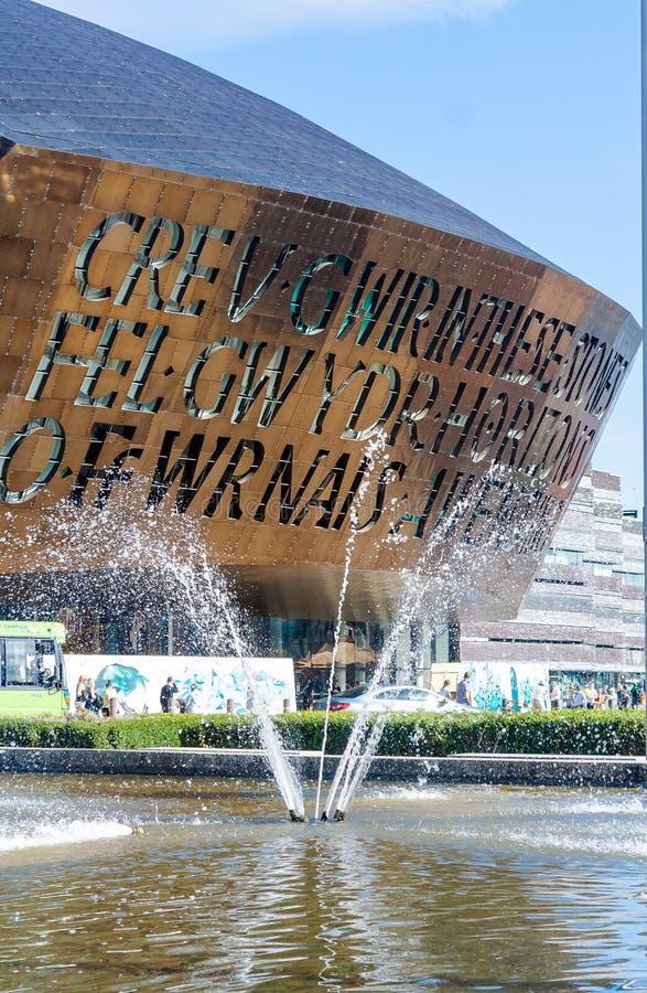 Jahrtausend Mittel-Cardiff lizenzfreie stockbilder