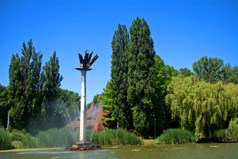 Jahrtausend-Monument, Szarvas, Ungarn stockbild