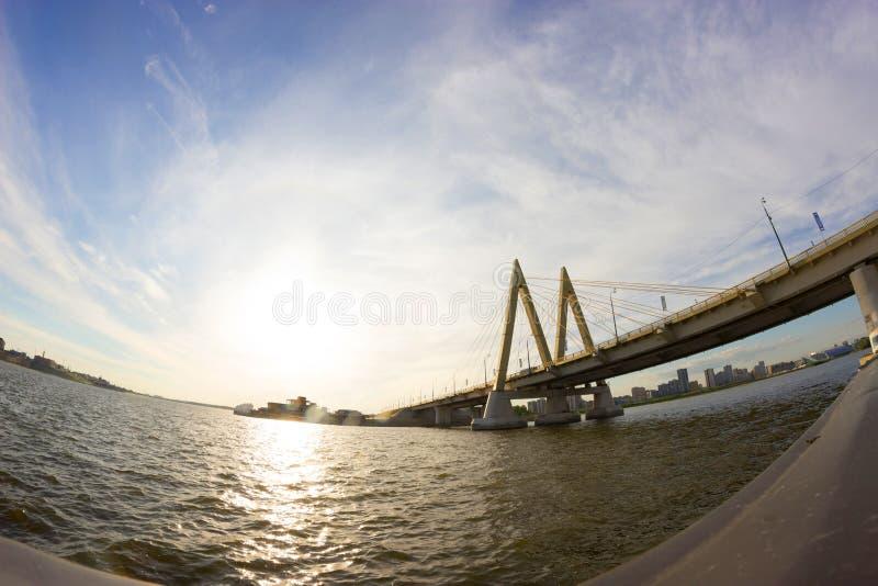Jahrtausendbrücke in Russland, Kasan Stadt stockfoto