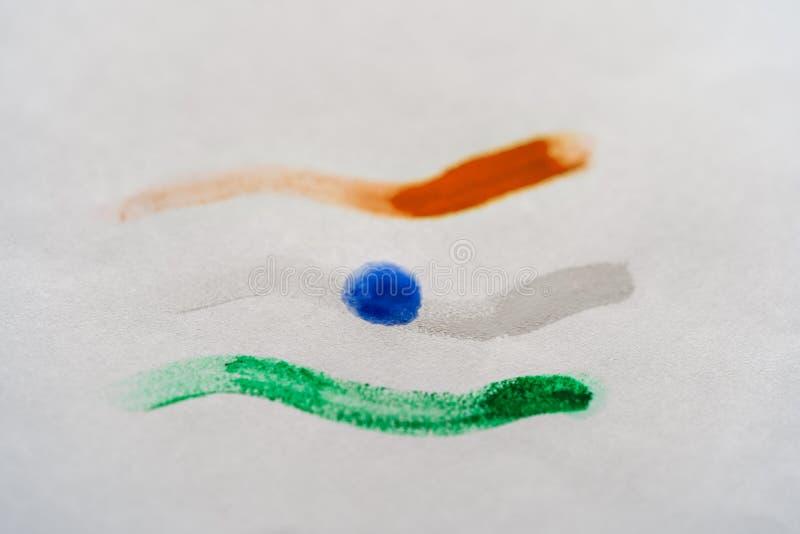 Jai Hind Indian Tricolor Flag arkivbild