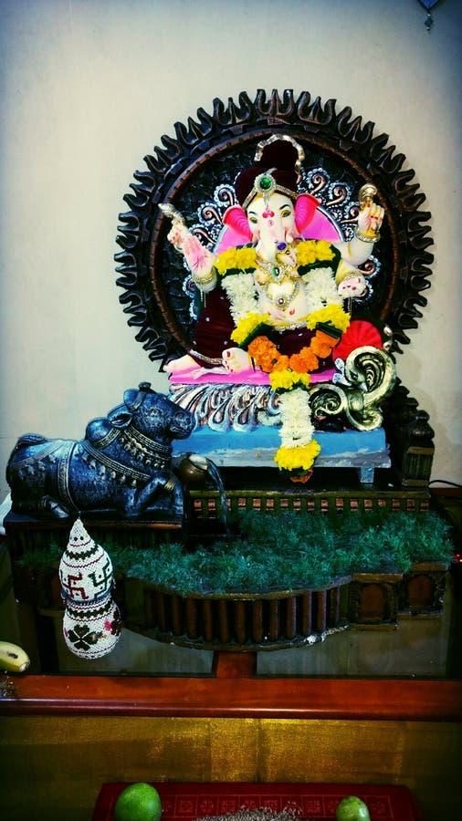 Jai Shree Ganesh Idol royaltyfria bilder
