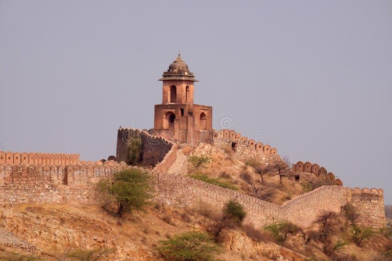 Jaigarh堡垒在斋浦尔 图库摄影