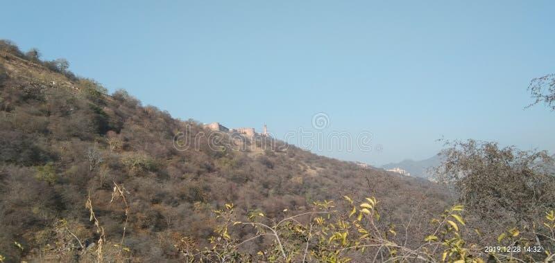 Jaigarh Fort on Aravli Mountain royalty free stock photography