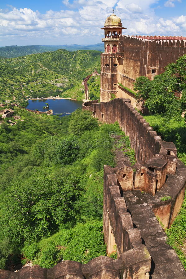 Download Jaigarh Famous Fort Wall stock image. Image of ancient - 29776845