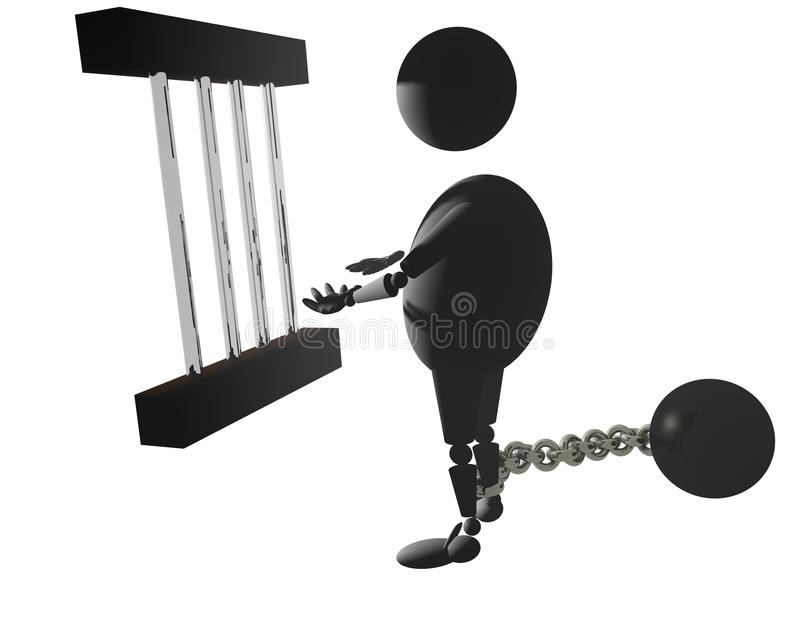 Download In a jail stock illustration. Image of robot, injailed - 11608684