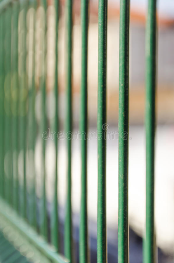 Jail fence metal bars. With dof royalty free stock images