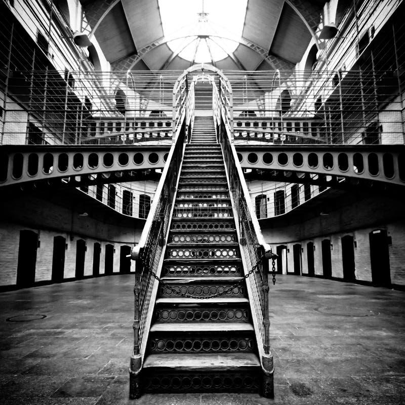 Download Jail Main Hall stock image. Image of escape, prison, monochrome - 14948285