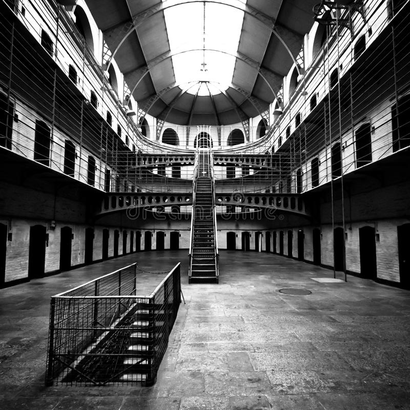 Jail Main Hall stock photography