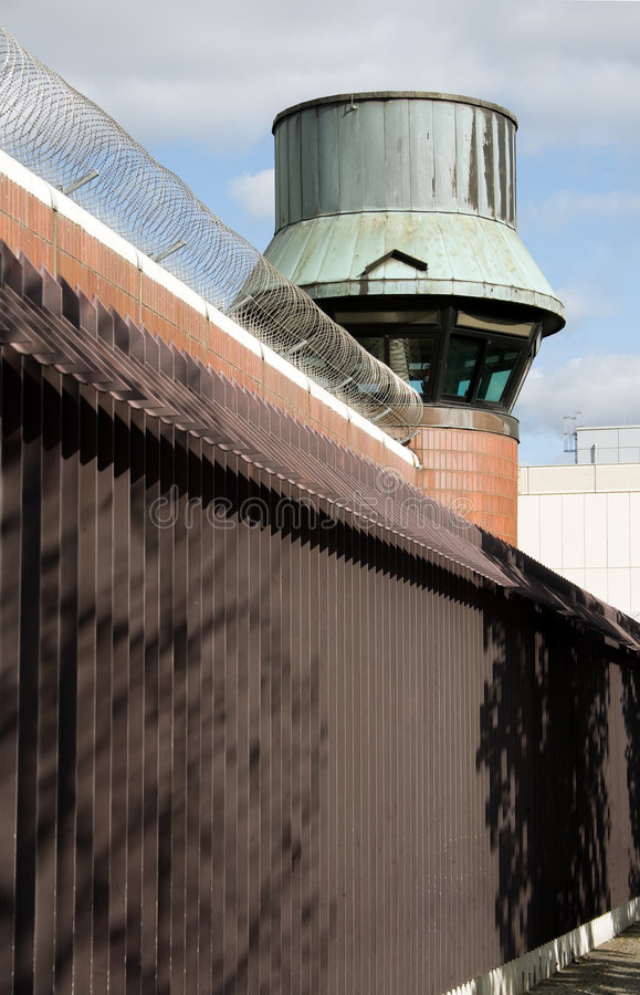 Jail watch tower royalty free stock images