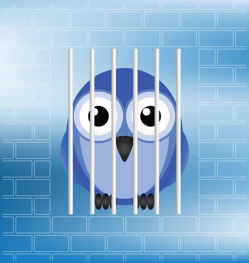 Jailbird royalty free illustration
