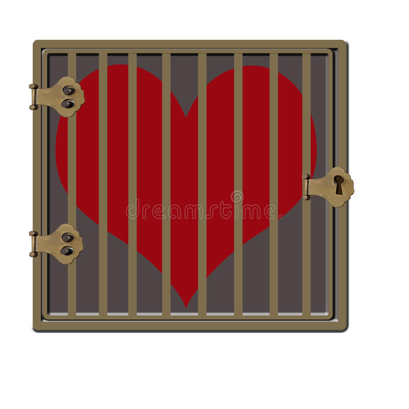 Download Jailed Heart stock illustration. Illustration of lock - 28999130
