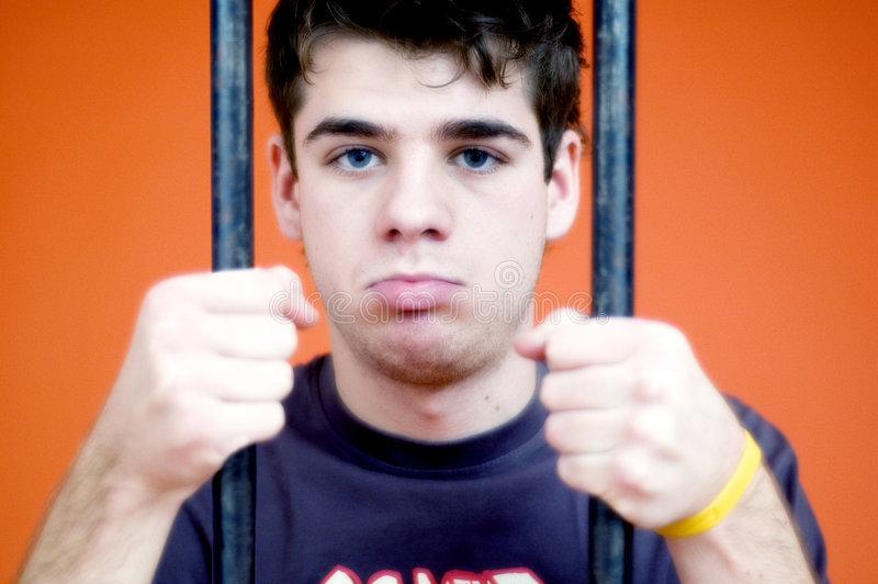 Jailed Youth stock images