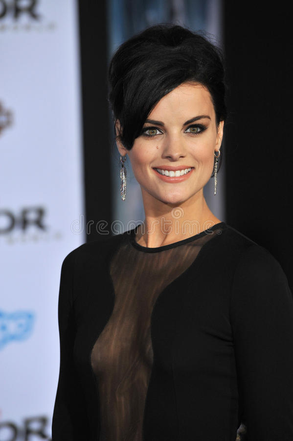 Jaimie Alexander. LOS ANGELES, CA - NOVEMBER 4, 2013: Jaimie Alexander at the US premiere of her movie Thor: The Dark World at the El Capitan Theatre, Hollywood royalty free stock photography