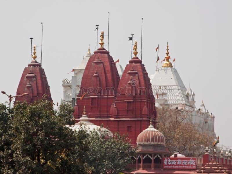 Jain tempel, Delhi arkivfoton