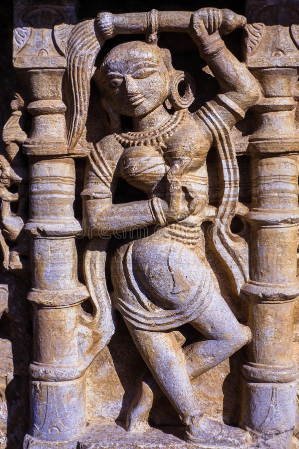 Jain Temple Carving Chittorgarh Rajasthan India royalty free stock images