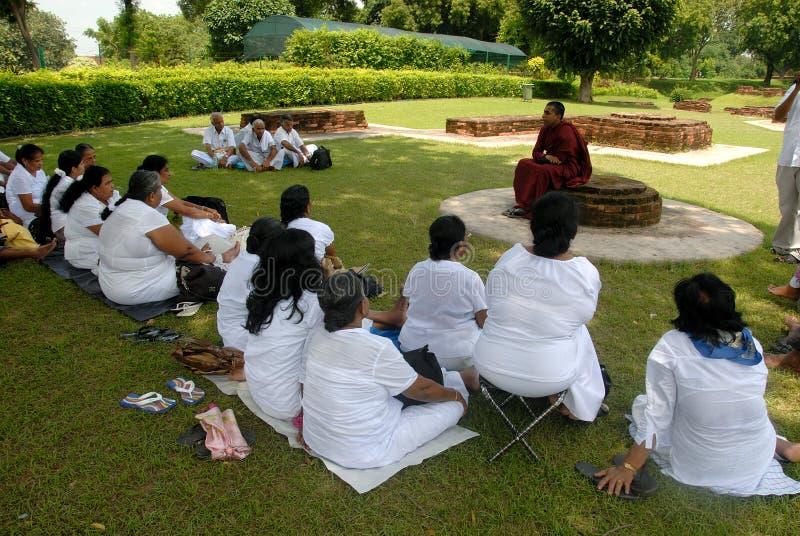 Jainism at Sarnath stock photos