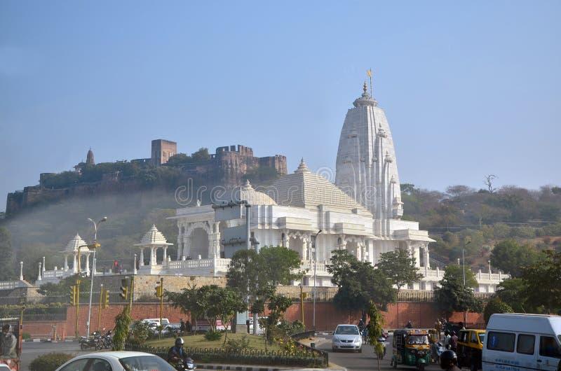 Jaipur, Índia - 31 de dezembro de 2014: Birla Mandir (Laxmi Narayan) i fotos de stock