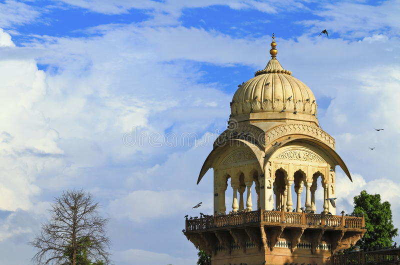 Jaipur Albert Hall Museum. Beautiful architecture of Albert Hall Museum with blue sky background ,Jaipur,Rajasthan. Albert Hall Museum is the oldest museum of royalty free stock image