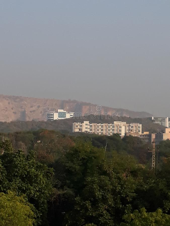 Jaipur City with nature touch. This is Jaipur city of Rajasthan. U can see the nature touch in this city stock photos
