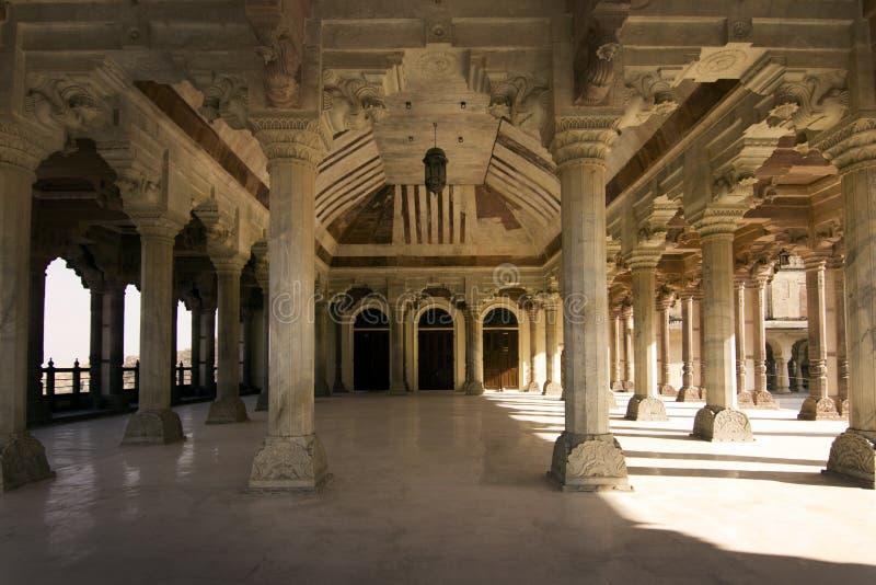 Jaipur, fort, wielka hala obraz stock