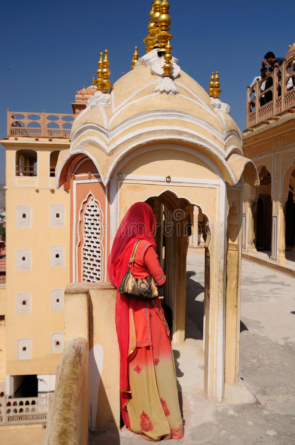 Jaipur - het Paleis van Hawa Mahal stock fotografie