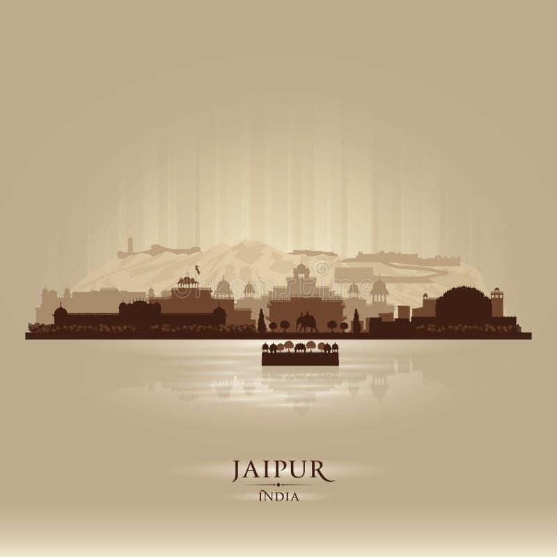 Jaipur India city skyline vector silhouette. Illustration royalty free illustration