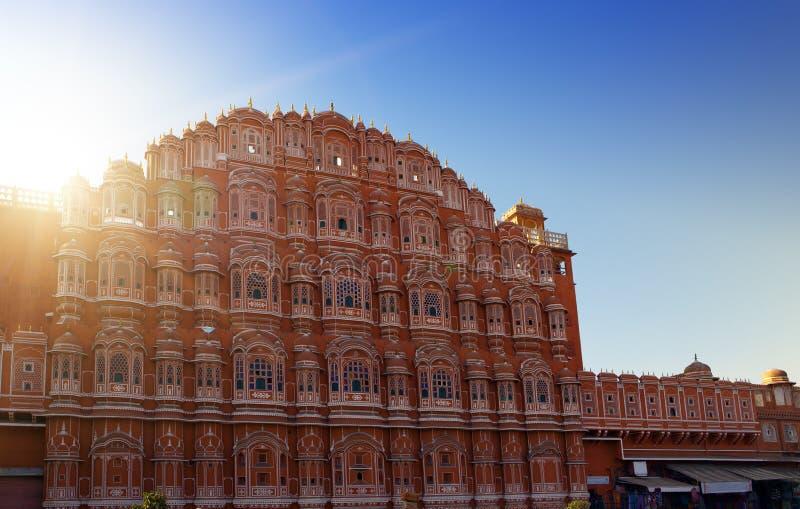 Jaipur, India.  Hawa Mahal or Palace of Winds royalty free stock images